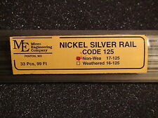 Micro- Engineering #17-125 NON WEATHERED RAIL CODE 125 N.S. BIGDISCOUNTTRAINS
