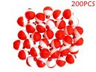 """25 50 100 200 PACK-1"""" Fishing Bobbers RED & WHITE Snap-On Round Floats Wholesale"""