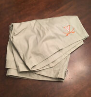 NWT Virginia UVA Cavaliers Football Team Issued Nike Dark Khaki Shorts Size 28