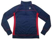 UCONN HUSKIES Women's Long Sleeve Pullover SIZE L 1/4 Zip Colloseum Brand