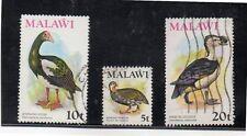 Malawi Fauna Aves valores del año 1975 (DE-481)