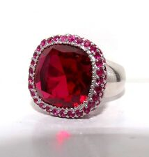 Fabulous New Created Ruby Sterling Silver Ring 12.60G
