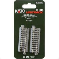 Kato 20-040 Rail Droit / Straight Track 62mm 4pcs - N