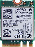 Dell Intel Dual Band 7265NGW WiFi Bluetooth Card XXY3M