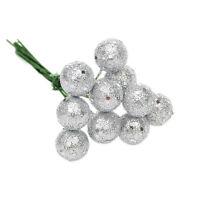 10x Glitter Christmas Balls Xmas Tree Hanging Ornament Christmas Decor WC