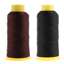 2 x 900 Meters Heavy Duty Bonded Nylon Threads for Upholstery Canvas Leather