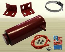 800ml Cylinder Radiator Overflow Reservoir Coolant Tank Red Aluminum Can