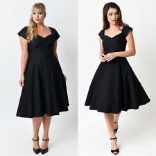 BNWT Stop Staring Black Size L Madstyle Swing Dress Vintage 50's Classy Party
