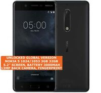 "NOKIA 5 1024/1053 3gb 32gb Octa-Core 13mp Fingerprint 5.2"" Android 4g Smartphone"