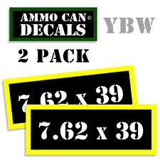 7.62 X 39 Ammo Label Decals Box Stickers decals - 2 Pack BLYW