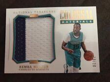 2017-18 National Treasures Kemba Walker Charlotte Hornets colossal jersey 10/10