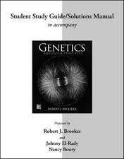Student Study Guide/Solutions Manual for Genetics by Robert Brooker (2014,...