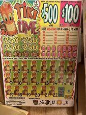 $1pull tab tickets Tiki Time 4000 Ct. $Big Profit 1095$