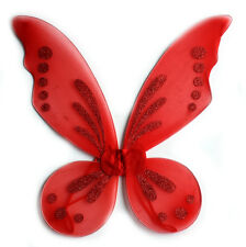 New Fairy Pixie Wings Dress Up Princess Butterfly Red Tinkerbell