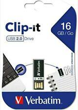 NEW Verbatim 16GB Clip-It USB 2.0 Flash Drive