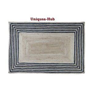 Rug Runner 100% Natural Jute Braided Style Handmade Reversible Modern Look Rugs