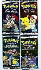 Poke Gum Pokemon Candy Planet 4 Card Packs Set 1999 Packs 1-4