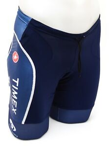 Castelli Timex Trek Team Free Men Triathlon Shorts XS Blue Shimano Ironman Race