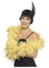 Gold yellow Feather Boa deluxe 1.80m 80g Gatsby burlesque costume accessory 20s