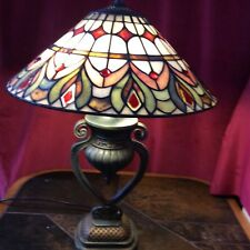 Tiffany Style Table Lamp Designer Unique Bedside Stained Glass Hand Made 60cm