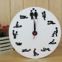 Wall Clock Mirror Diy Sticker Home Decor Large Modern Watch New Surface Sex Room