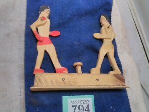 Vintage Wooden Boxing Toy
