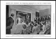 1909 Antique Print - LONDON THEATRE PUPPETS MARIONETTES Maeterlinck Play (251)