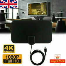 More details for hdtv digital tv antenna indoor aerial hd freeview signal thin 100 mile new