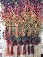 Handmade Rainbow Hairpin Lace Shawl/Scarf/Wrap (OOAK)