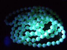 "Superb Art Deco Cream Uranium Glass Knotted Flapper Necklace 48"""
