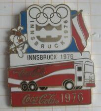 COCA-COLA / OLYMPISCHE SPIELE INNSBRUCK 1976 TRUCK ... Pin (177h)