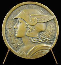Medaille Dieu God Hermès casqué style art-déco vers 1930 offert par Pernod medal