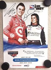 DAN WHELDON DANICA PATRICK signed autographed poster PROOF Indy car photo NASCAR