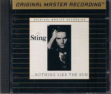 Sting Nothing Like The Sun MFSL Gold CD UDCD 546 UII ohne J-Card UDCD 546