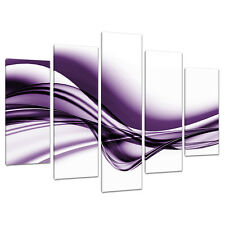 Set di 5 LARGE VIOLA stampe su tela immagini UK Camera Da Letto Wall Art 5031