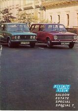 Fiat 124 Saloon Estate Special Special T 1971-72 UK Market Sales Brochure