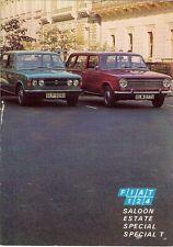 Fiat 124 Saloon Estate Special Special T 1971-72 UK Market Sales Brochure