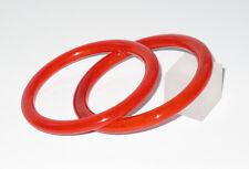 Vintage Bakelite Bracelet Bangle spacer ruby red marble lot 2 pc