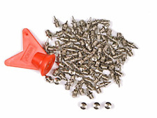 100Pack Stainless Steel Track and Cross Country Spikes Replacement Shoe 1/4 inch