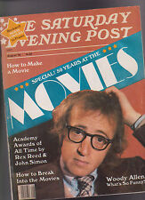 Saturday Evening Post August 1978 Woody Allen 50 Years at the Movies Rockwell