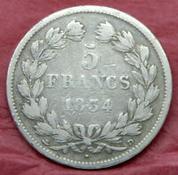 5 francs, Louis-Philippe, 1834 D