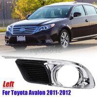 Left Front Fog Light Lamp Frame Bezel Trim For Toyota Avalon 2011 2012 Chrome US