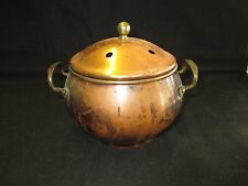 "Copper/Brass Potpourri  00006000 Warmer- 5"" tall X 6"" wide"