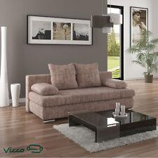 Vicco Schlafsofa Couch Sofa ausziehbar Chicago Schlafcouch 200x95 Struktur Beige