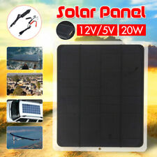 20W Solar Panel USB Monocrystalline Outdoor Camping Car Boat Battery Charging !