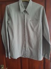TED BAKER MENS SHIRT SIZE 5 . SAGE GREEN IN COLOUR.  LONG SLEEVED VGC