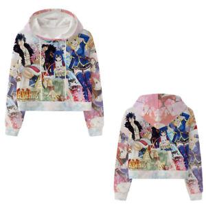 Cartoon Fairy Tail Unisex Fashion Sweater Pullover Short Print Sweatshirt Hoodie