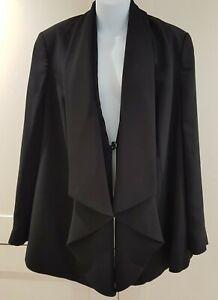 Ann Harvey Black Jacket Size 16 Very Smart Worn Once work