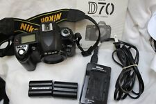 Nikon D70 Digital SLR Camera Only 1898 Shutter Count Includes Batteries Charger