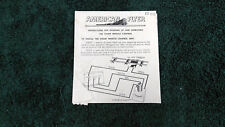 AMERICAN FLYER M3300 710 STEAM WHISTLE CONTROL BOX INSTRUCTION COPY